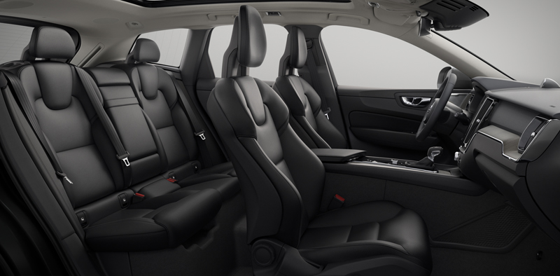 ... Interior Shot Of The Volvo XC60 With Moritz Charcoal Leather Seats